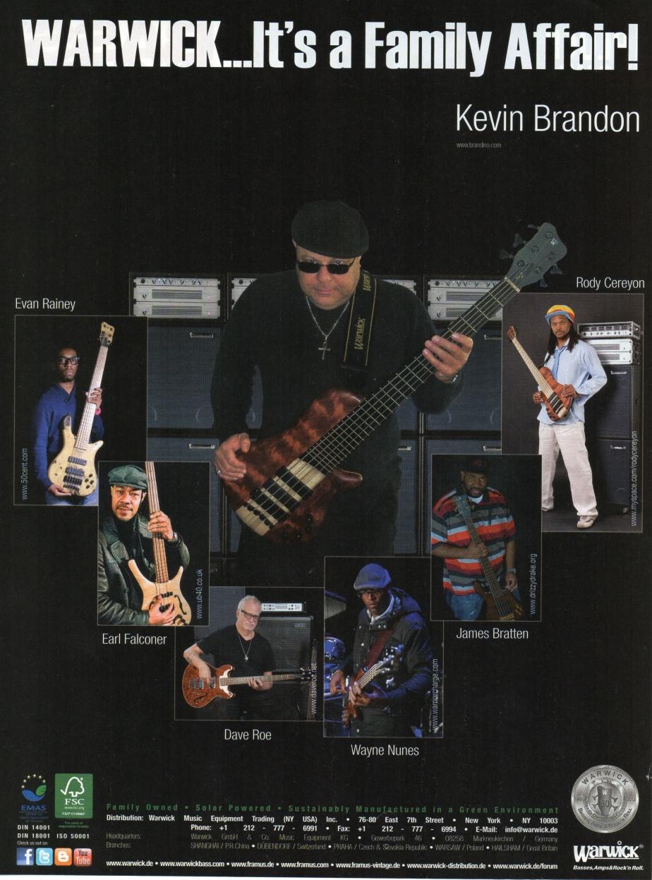 Brandino's 2012 Bass Player Ad by Warwick
